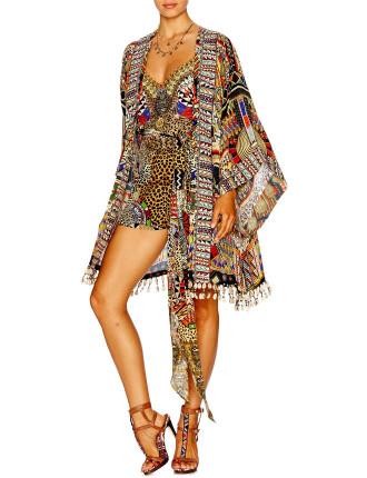 CAMILLA Beads of Love Kimono W/ Tie Belt