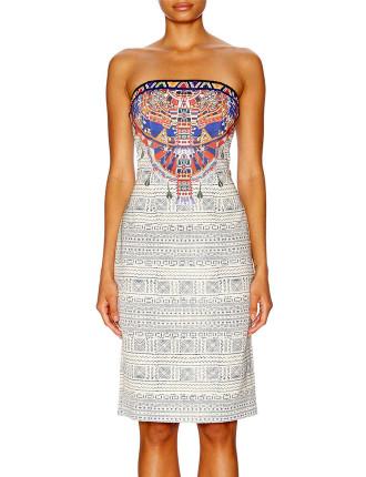 CAMILLA Lost Paradise Print Stretch Strapless Dress