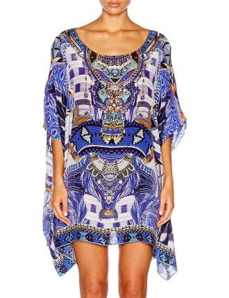 CAMILLA Rhythm & Blues Short Round Neck Kaftan
