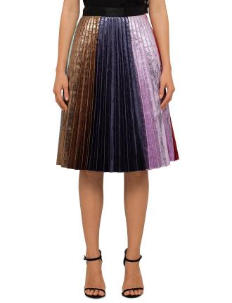 Rainbow Pleat Skirt