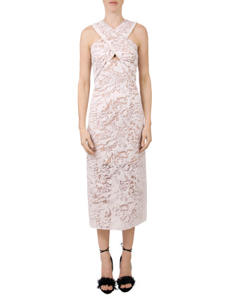 Orbital Cross Neck Dress