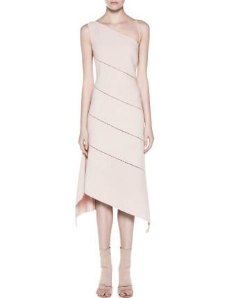 Bustier Bias Dress Blush