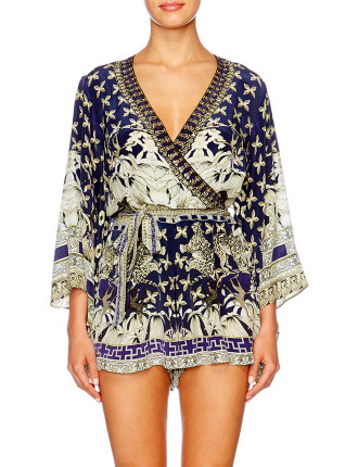 CAMILLA A LITTLE PAST TWILIGHT Kimono Sleeve Playsuit