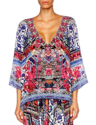 CAMILLA FROM KAILI WITH LOVE V Neck Oversized Blouse