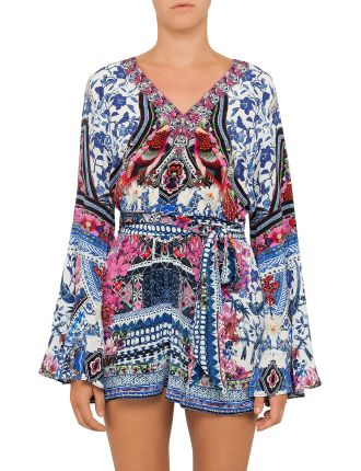 CAMILLA FROM KAILI WITH LOVE Wide Sleeve Playsuit
