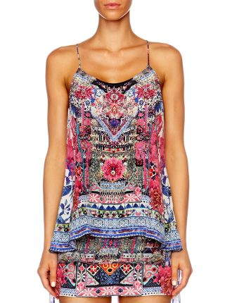 CAMILLA FROM KAILI WITH LOVE T Back Shoestring Top