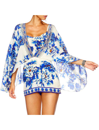 CAMILLA RING OF ROSES Cape Playsuit