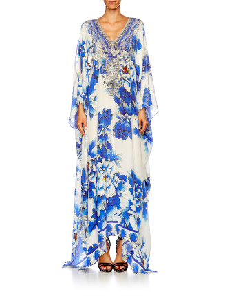 CAMILLA RING OF ROSES Split Front & Sleeve Kaftan