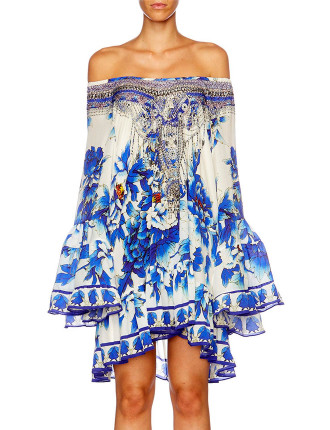 CAMILLA RING OF ROSES A Line Frill Dress