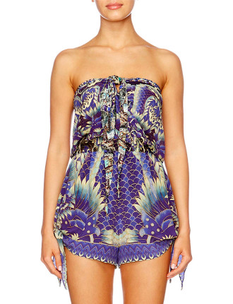 CAMILLA WHAT'S YOUR POISON Tie Front And Side Playsuit
