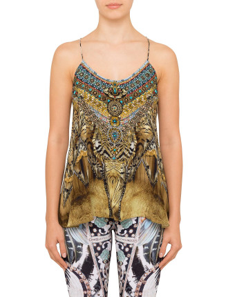 CAMILLA GIVEN TO THE WILD T Back Shoestring Top