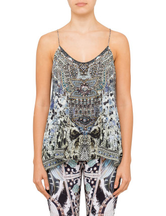 CAMILLA HUSH HUSH T Back Shoestring Top