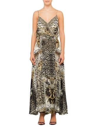 CAMILLA SPIRIT ANIMAL Strappy Wrap Dress