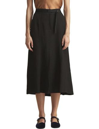Fontaine Linen Viscose Skirt