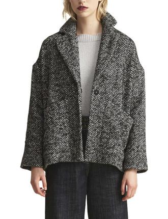 Gustave Herringbone Hooded Jacket