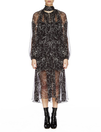 Tuberose Silk Maxi Dress