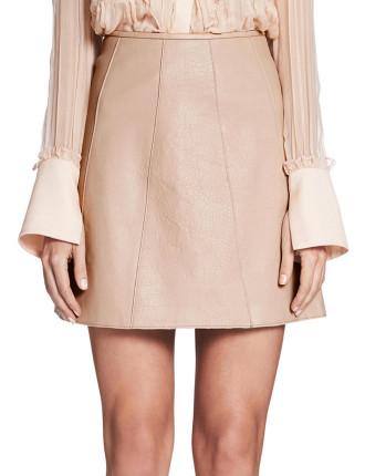 Boy Band Leather Mini Skirt