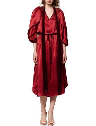 Billowing Silk Dress