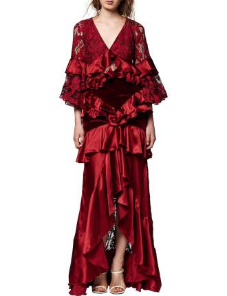 Crimson Magnolia Gown