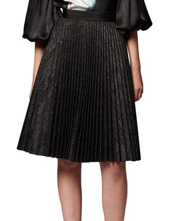 Pleated Glitter Skirt