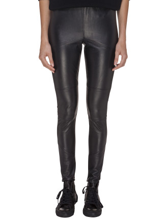 Leather Stretch Ponte Pants