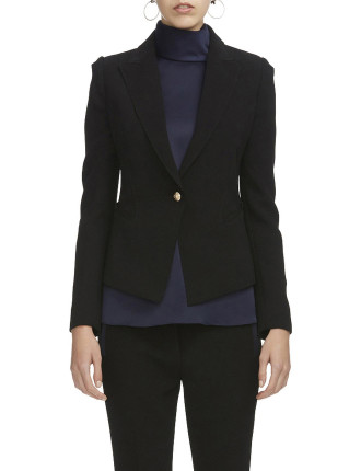 Myra Blazer (Claudel Fabric With Gold Button)