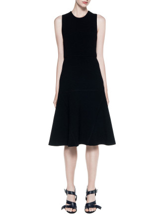Linear Crepe Cargo Shift Dress