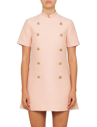 Virtue Dress In Pink Wool