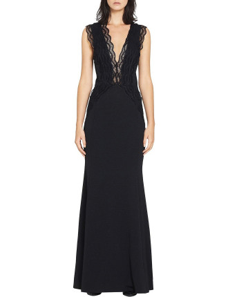 Arches Lace Trim Gown