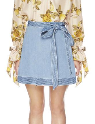 Evvie Wrap Mini Skirt