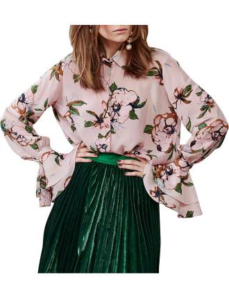 Travelling Frillbury Floral Shirt