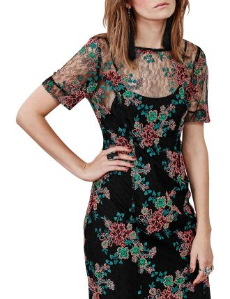 Soul Mood Lace Embroidered Dress