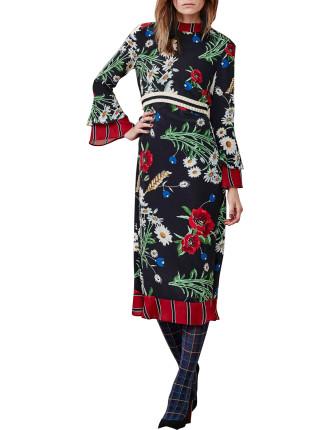 Flora-Bunda Print Dress