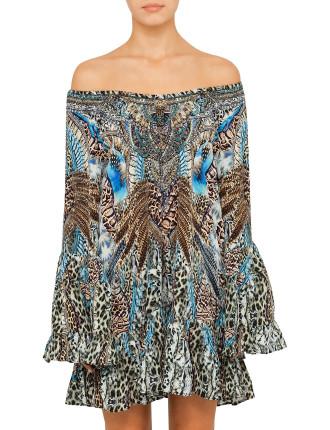 EXCLUSIVE CAMILLA Dream State A Line Frill Dress