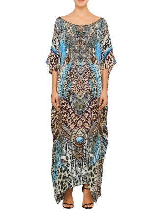 EXCLUSIVE CAMILLA Dream State Round Neck Kaftan