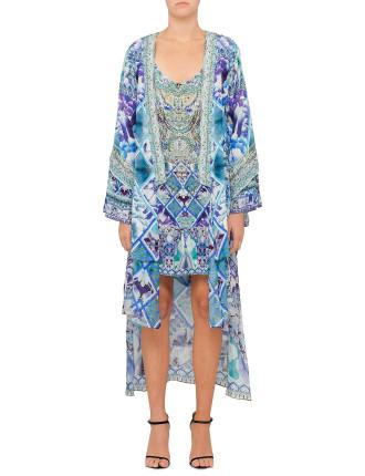CAMILLA The Blue Market Kimono With Long Underlay