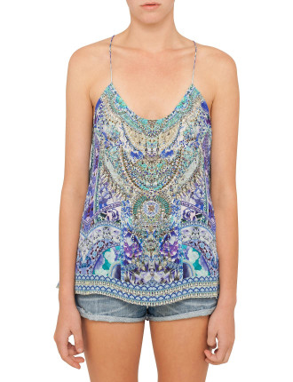 CAMILLA The Blue Market T Back Shoestring Top