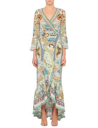 CAMILLA The Blue Market Long Sleeve Wrap Dress