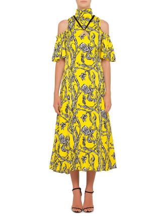 Deity Print Dress