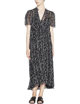 Farrah Silk Ruffle Dress