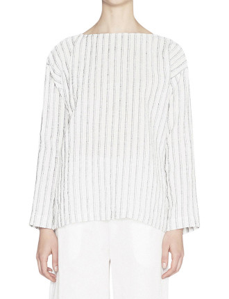 Celia Stripe Linen Top