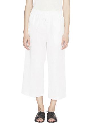 Morris Cotton Oxford Wide Leg Pant