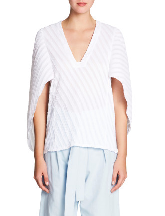 DIAGONAL PLEAT TOP