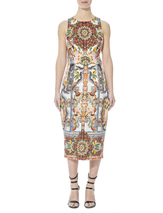 Multi Tapestry Print Dress