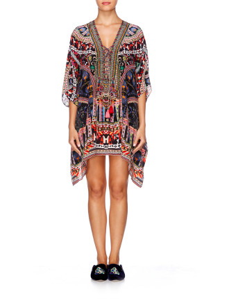 Short Lace Up Kaftan-DANCING ON MY OWN