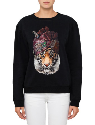 Round Neck Sweater-TURBAN TIGER