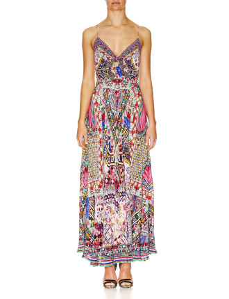 Long Dress W/ Tie Front-KALBELIA QUEEN