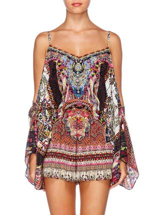 Drop Shoulder Playsuit-TINY DANCER