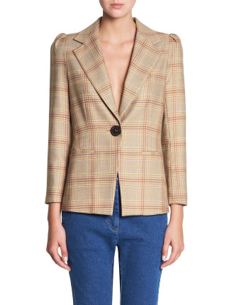 WELL PLAID BLAZER