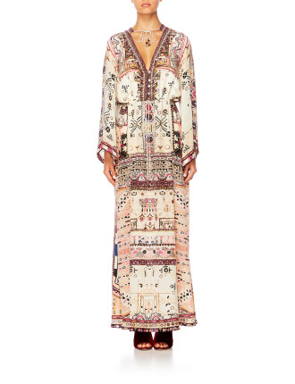 Drawstring Button Up Dress